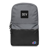 Embroidered DEV Backpack