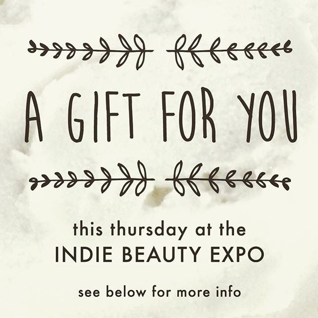 GIFT FROM VIOLETS ARE BLUE , REPOST AN IMAGE AND COME SAY HELLO AT OUR BOOTH (MAKE SURE THEY MENTION THE POST) #GIVEAWAY #FREE #SKINCARE #INDIEBEAUTYEXPO