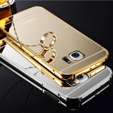 Samsung Galaxy Case Luxury Gold Plating Aluminum Frame