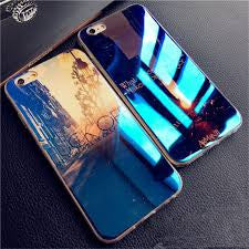 Luxury Soft TPU Case For iPhone 6 7 Plus 5 5S SE Cover Blue-ray Silicone