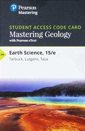 MasteringGeology with eText for Earth Science (15th Edition)