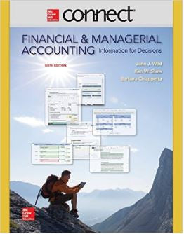 Connect 2 Semester Access Card for Financial and Managerial Accounting 6th Edition