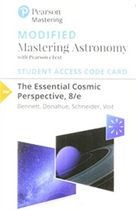MODIFIED Mastering Astronomy with Pearson eText for The Essential Cosmic Perspective (8th Edition)