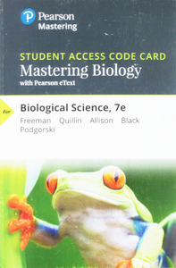 MasteringBiology with Pearson eText for Biological Science (7th Edition)
