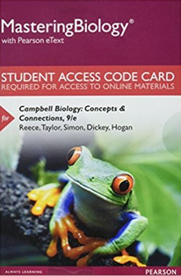 MasteringBiology with Pearson eText for Campbell Biology: Concepts & Connections (9th Edition)
