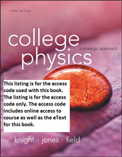 MasteringPhysics with Pearson eText for College Physics: A Strategic Approach (3rd Edition)