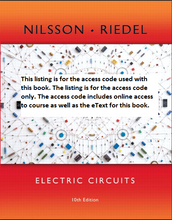 MasteringEngineering With Pearson Etext for Electric Circuits (10th Edition)