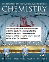 MasteringChemistry with Pearson eText for Fundamentals of General, Organic, and Biological Chemistry (8th Edition)
