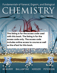 MODIFIED MasteringChemistry with Pearson eText for Fundamentals of General, Organic, and Biological Chemistry (8th Edition)