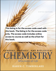 MasteringChemistry with Pearson Etext for General, Organic, and Biological Chemistry: Structures of Life (5th Edition)