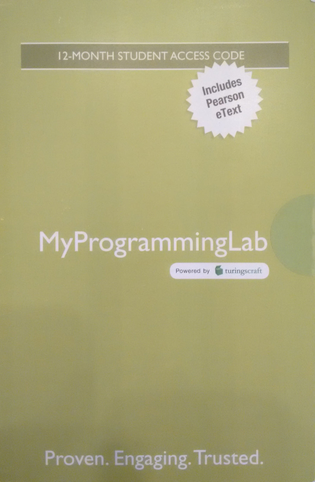 MyProgrammingLab with Pearson eText for Introduction to Programming Using Python  (1st Edition)