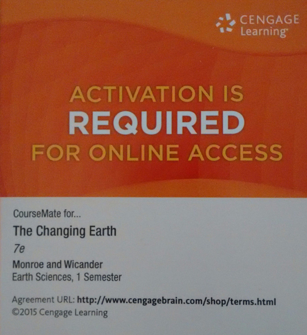 CourseMate, 1 term (6 months) Instant Access for Monroe's The Changing Earth 7th Edition