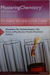 MasteringChemistry with Pearson Etext for Chemistry: The Central Science (14th Edition)
