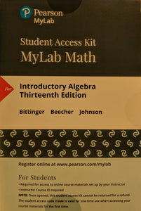 MyLab Math (24 Months) with eText for Introductory Algebra (13th Edition)