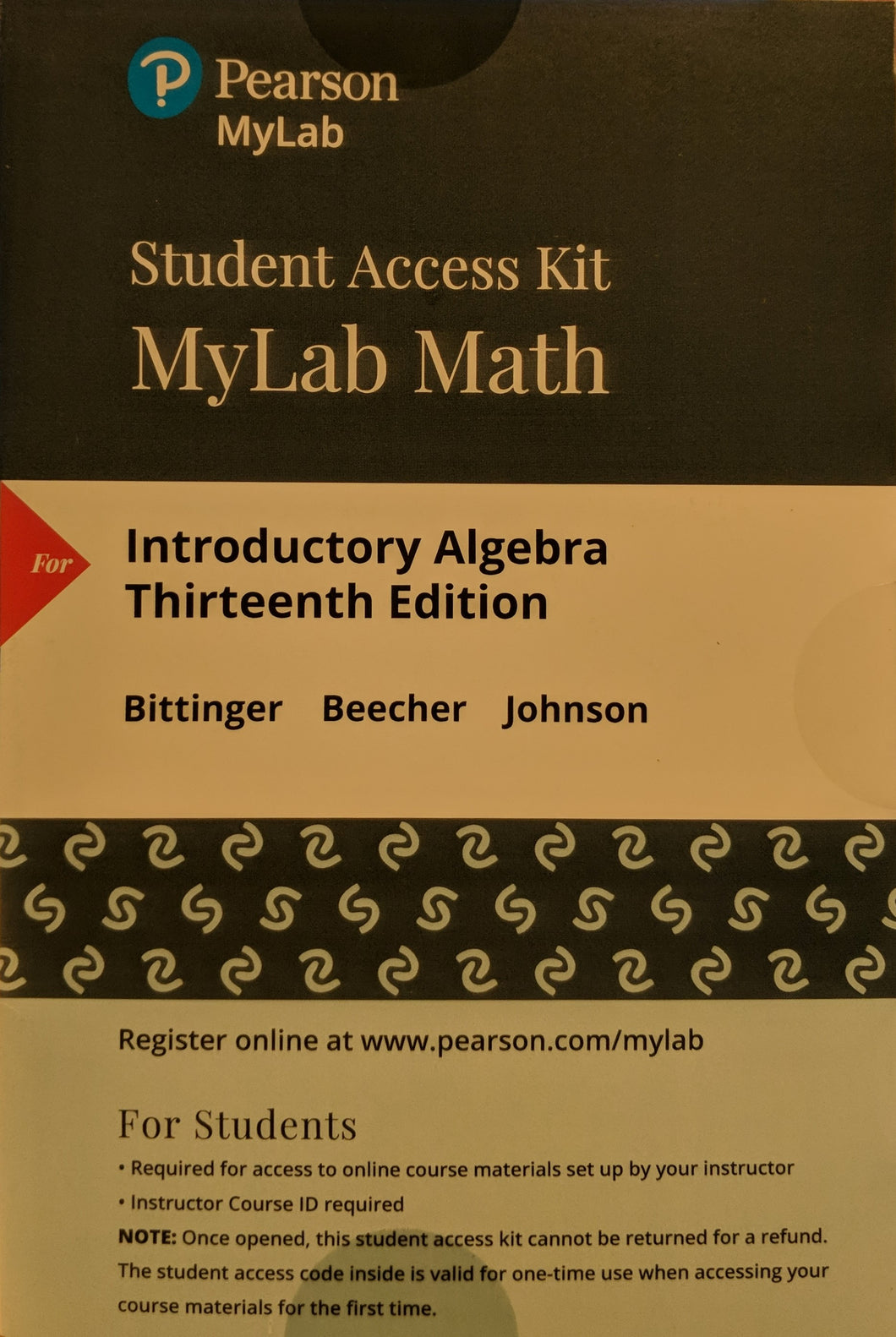 MyLab Math (24 Month) with eTextbook for Introductory Algebra (13th Edition)