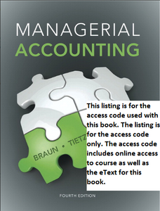 MyAccountingLab with Pearson eText for Managerial Accounting (4th Edition)