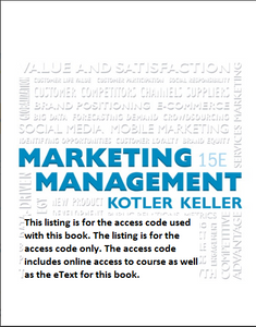 MyMarketingLab with Pearson eText for Marketing Management (15th Edition)