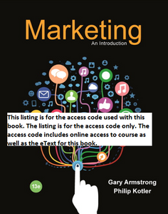 MyMarketingLab with Pearson eText for Marketing: An Introduction (13th Edition)