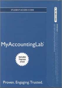 MyAccountingLab with Pearson eText for Horngren's Cost Accounting (16th Edition)