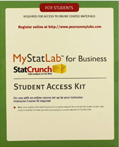 MyLab Statistics for Business (MyStatLab) Student Access Card