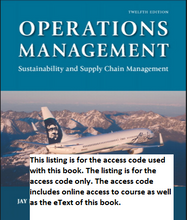 MyOMLab for Operations Management Sustainability and Supply Chain Management (12th Edition)