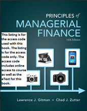 MyFinanceLab with Pearson eText for Principles of Managerial Finance (14th Edition)