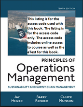 MyOMLab for Principles of Operations Management Sustainability and Supply Chain Management (10th Edition)