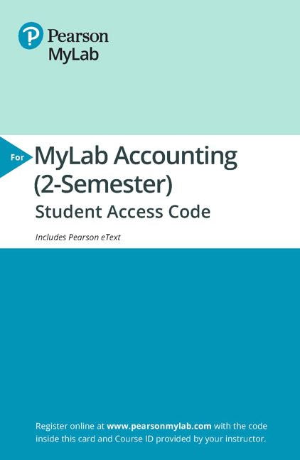 MyLab Accounting (MyAccountingLab) with Pearson eText for Horngren's Financial & Managerial Accounting (6th Edition)