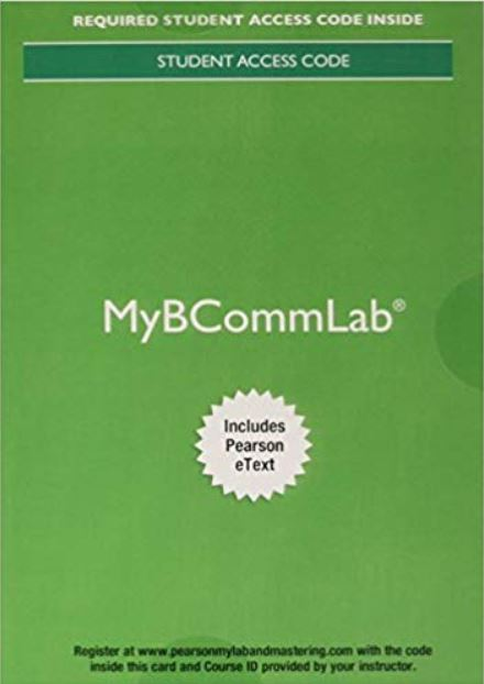MyLab Business Communication with Pearson eText for Business Communication Today (14th Edition)