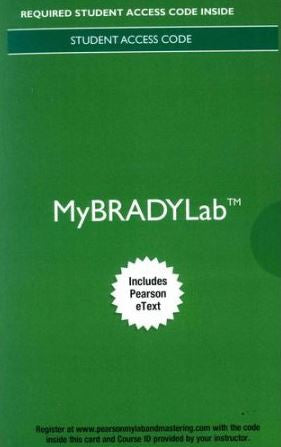 MyBradyLab with eText  for Emergency Care 13th Edition