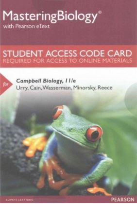 MasteringBiology with Pearson eText for Campbell Biology (11th Edition)