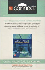 Connect 1-Semester Access Card for Essentials Corporate Finance 9th Edition
