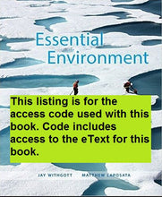 MasteringEnvironmentalScience With Pearson Etext for Essential Environment: The Science Behind the Stories (5th Edition)