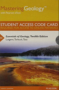 MasteringGeology with eText for Essentials of Geology (12th Edition)