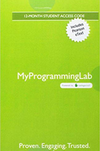 MyLab Programming  (MyProgrammingLab) with Pearson eText for Starting Out with Python 4th Edition