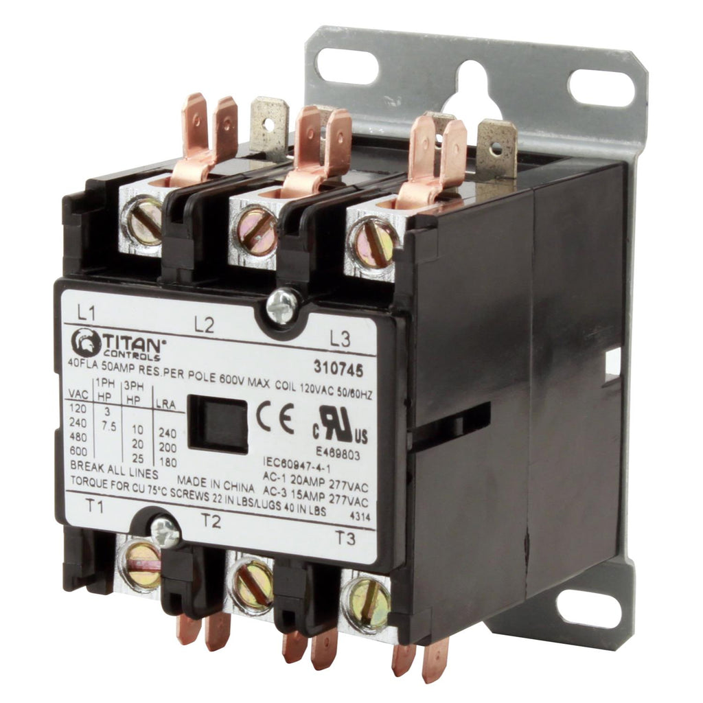 Titan Controls 3P /120 V 50 A Relay (25/Cs)