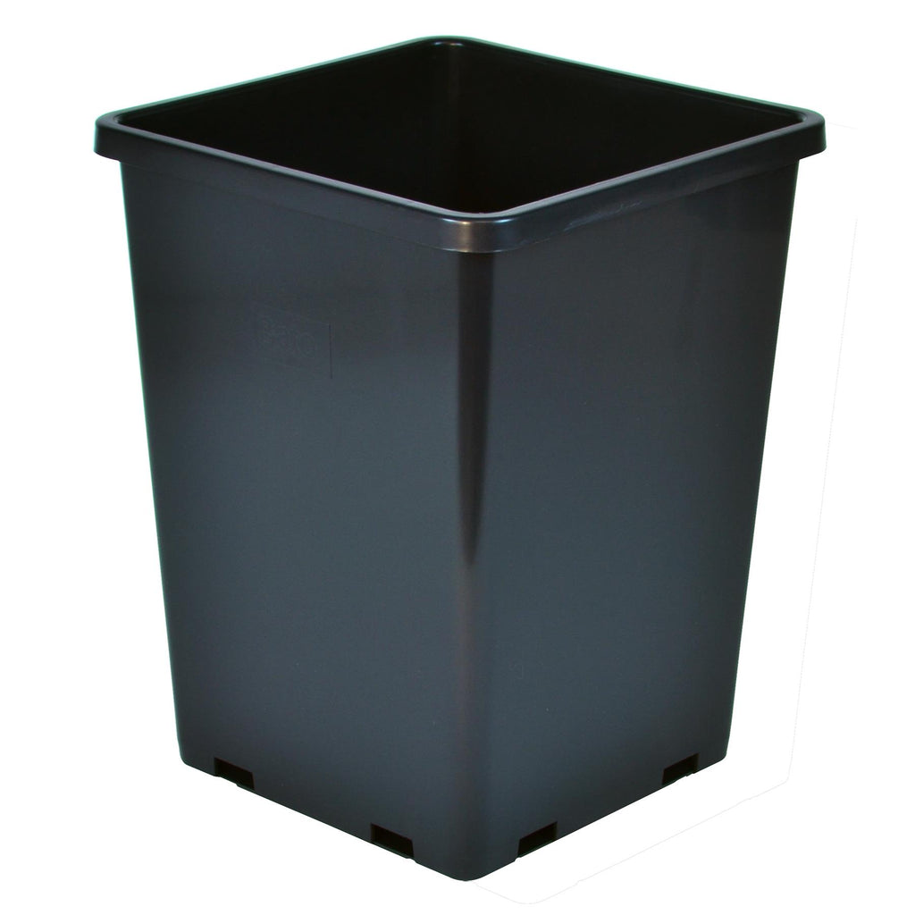 Gro Pro Rose Bucket Black 7.6 in x 7.6 in x 9.7 in (10/Cs)