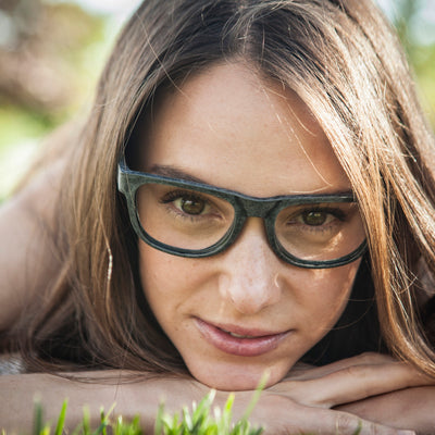 Karün Eco glasses in recycled plastic; RX-able for prescription frames for Women