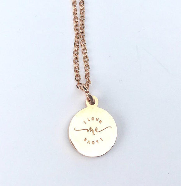 I Love Me Pendant Necklace