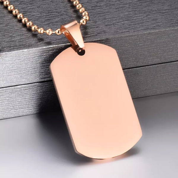 Drink Some Water Dog Tag Necklace