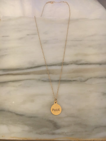 Fuck Pendant Necklace