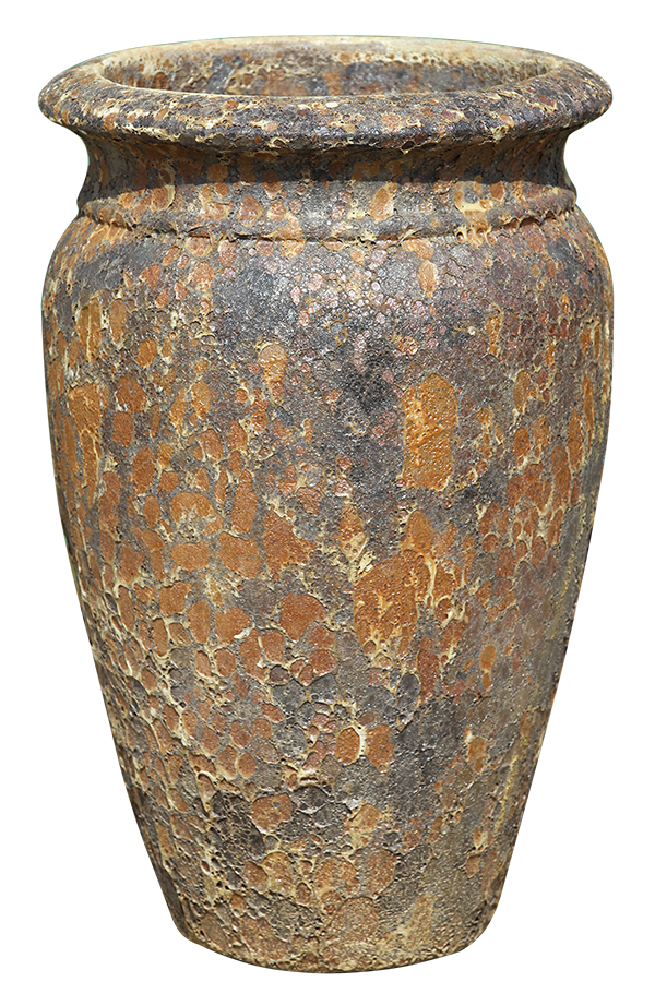 Rust Cream Pottery - Short Urn