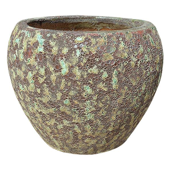 Rust Green Pottery - Short Rounded