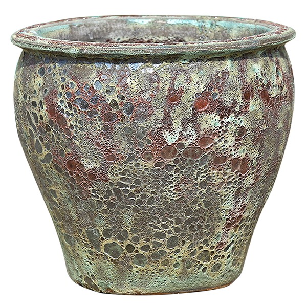 Rust Green Pottery - Short Rimmed