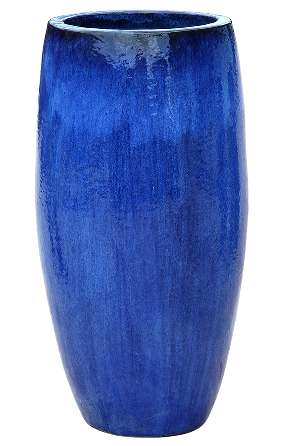 Reactive Blue Pottery - Tall Rounded Cylinder