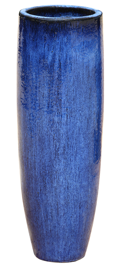 Reactive Blue Pottery - Tall Cylinder