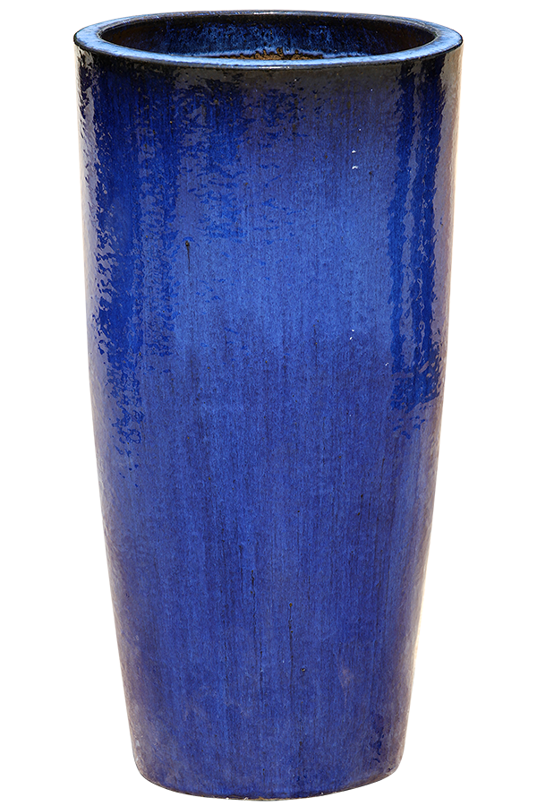 Reactive Blue Pottery - Tall Flared Cylinder
