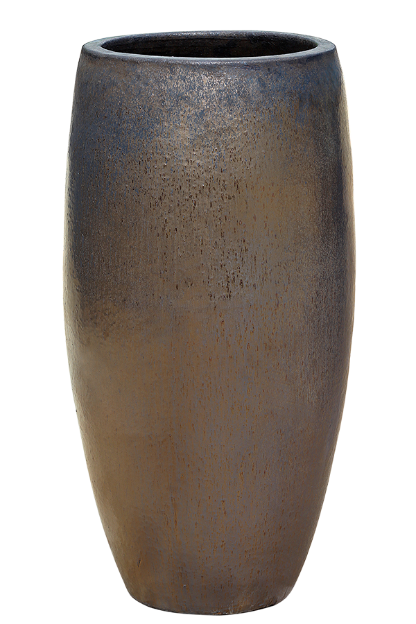 Reactive Copper Pottery - Tall Rounded Cylinder