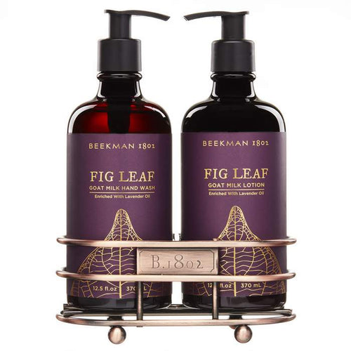 Beekman 1802 Fig Leaf Caddy Set