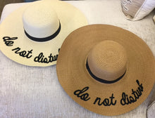 """do not disturb"" wide rim hat"